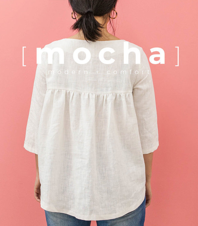 Picture of MOCHA Patsy Blouse Paper Pattern