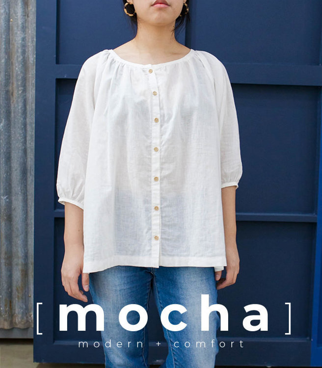 Picture of 10 MOCHA Mack Raglan Tunic/Blouse Paper Pattern (#3182_3130) - 25% Off!
