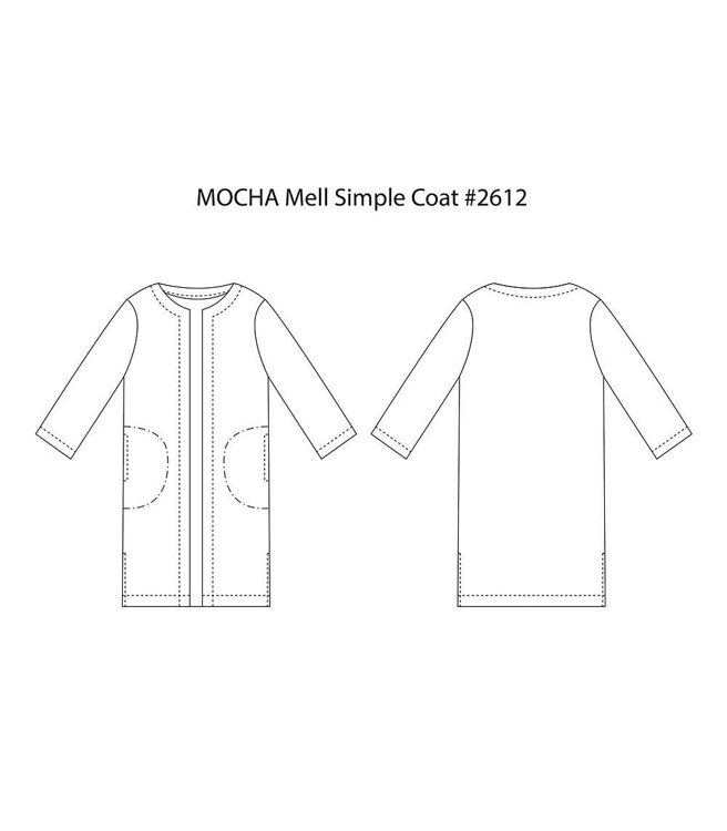 Picture of 10 MOCHA Mell Simple Coat Paper Pattern (#3185_3153) - 25% Off!