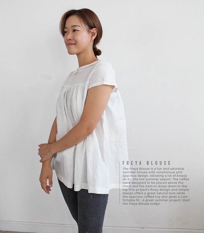 Picture of 10 MOCHA Freya Blouse PDF Pattern (#3187_3174) - 25% Off!