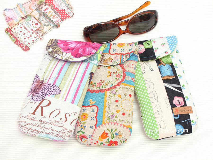 Pencil case & Sunglass case (Kim clutch) FREE PDF Pattern