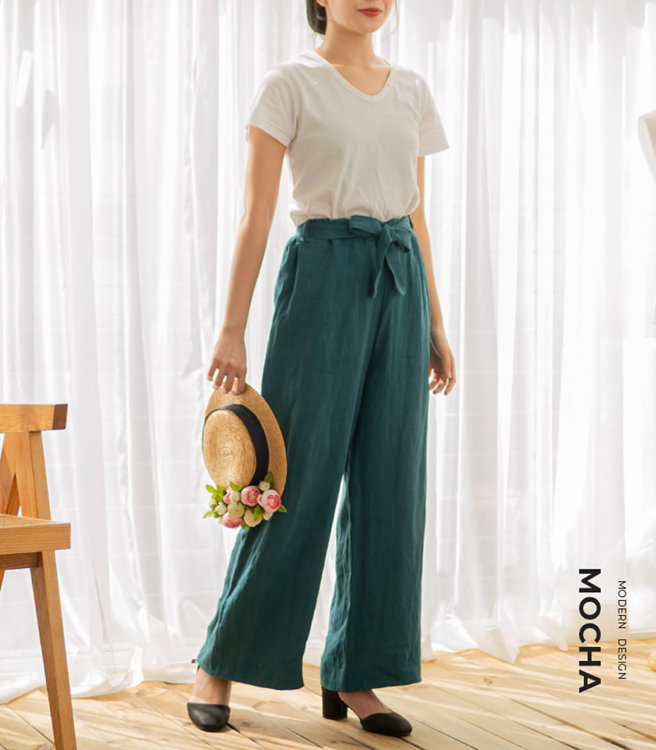 Picture of MOCHA Willa Ribbon Belt Wide Pants PDF Pattern