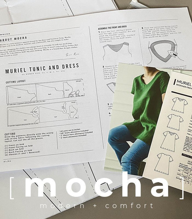 Picture of MOCHA Zia Peter Pan Collared Blouse Paper Pattern (3291_3263)