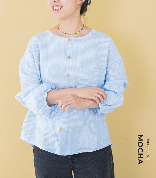 """Picture of MOCHA Paulina Blouse PDF Pattern  - 4 Kinds of Paper(A4, US Letter, A0, 36""""x48"""")"""