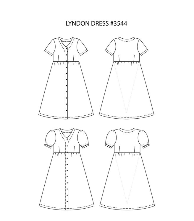 """Picture of MOCHA Lyndon Dress (#3544) - Premium Members Only - 4 Kinds of Paper(A4, US Letter, A0, 36""""x48"""")"""