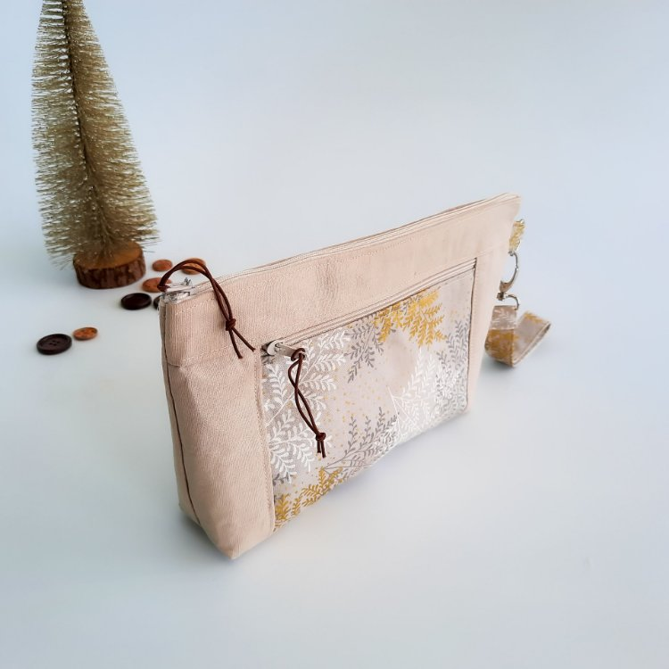 Picture of Double Zipper Pouch Pattern/3 Sizes with tutorial